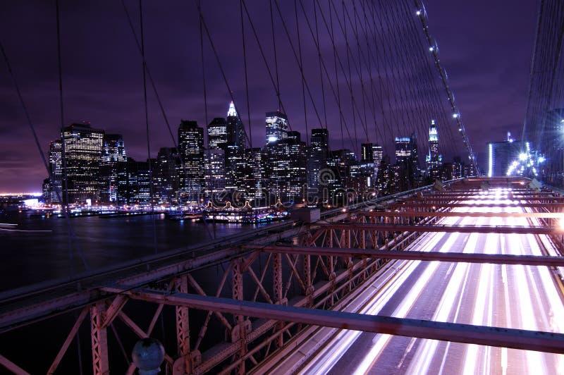 nowy York w nocy miasto zdjęcie royalty free