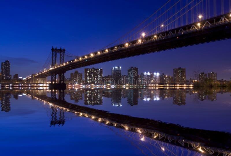 nowy York w nocy miasto fotografia royalty free