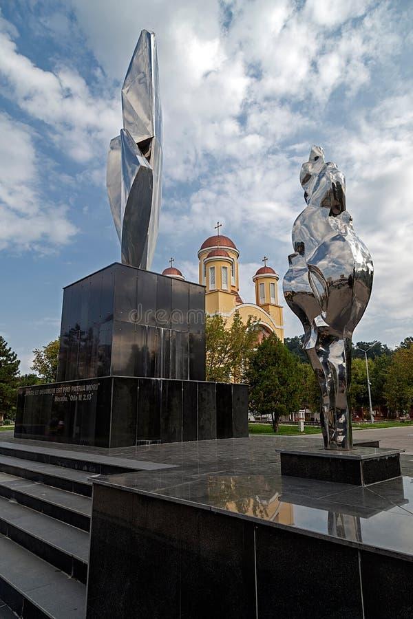 Nowy zabytek i Ortodoksalny kościół w Resita, Rumunia fotografia royalty free