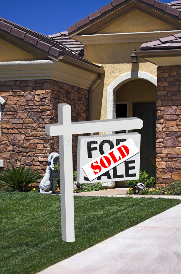 nowy znak sprzedawanych w domu
