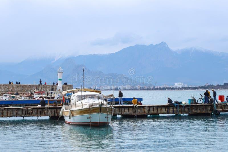 2019 nowych fotografii wybrzeży stary grodzki Kaleici w Antalya, Turcja zdjęcie stock