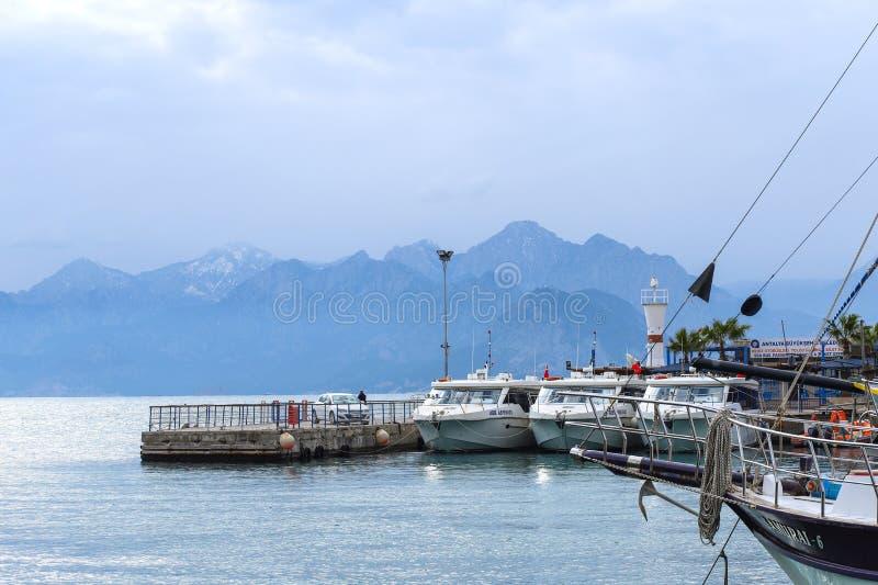 2019 nowych fotografii wybrzeży stary grodzki Kaleici w Antalya, Turcja zdjęcia stock