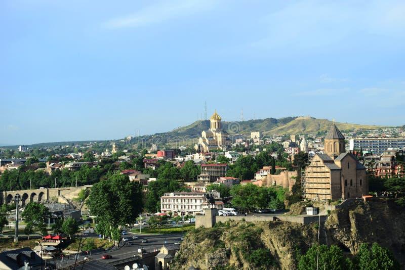 2018 nowych lat widoków Tbilisi stary miasto obraz royalty free