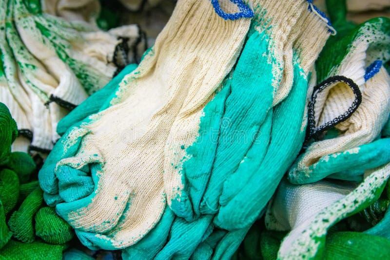 Nowych prac rękawiczki na supermarkecie obrazy royalty free