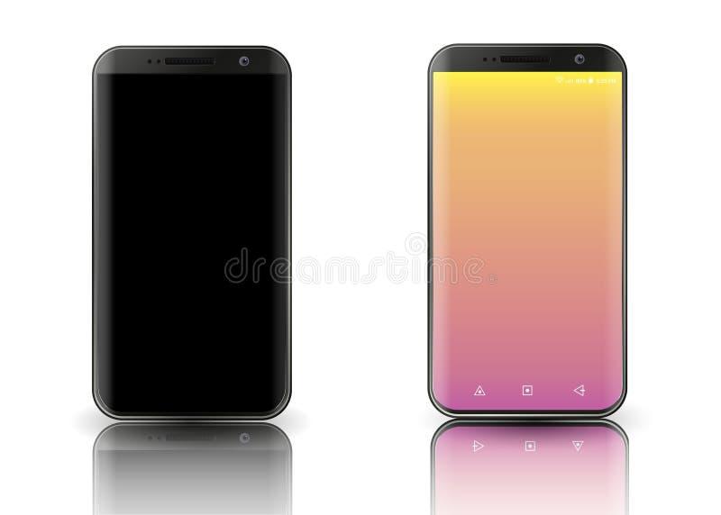 Nowych smartphones realistyczny set royalty ilustracja