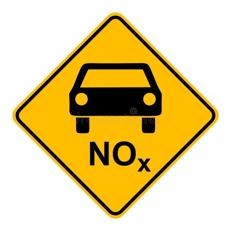 NOx-bil och vägmärke vektor illustrationer