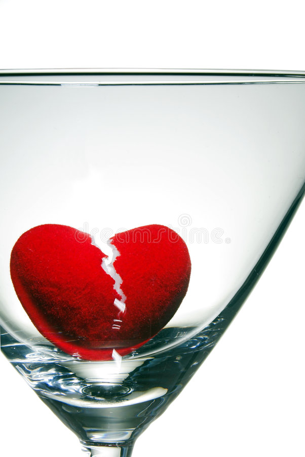 Noyade d'un coeur cassé photo libre de droits