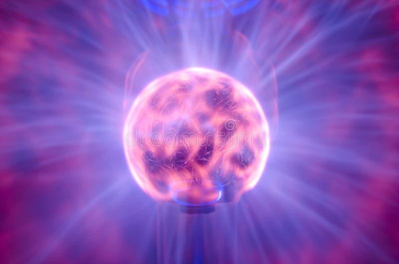 Noyau de lampe de plasma photographie stock
