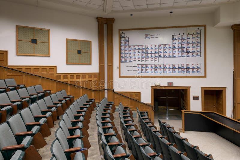 Noyes Laboranckiej chemii odczytowa sala obrazy stock