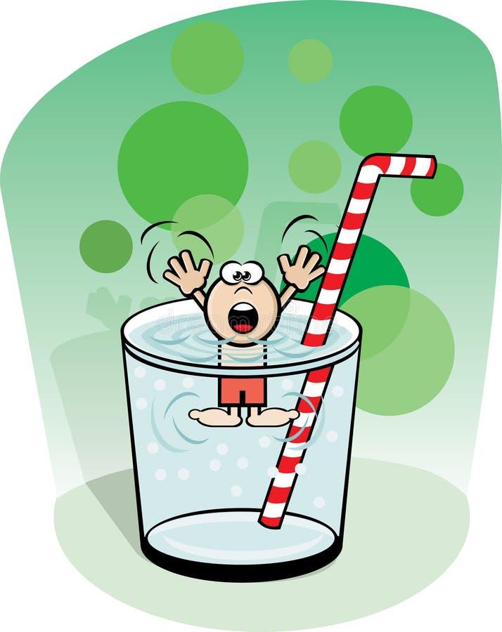 Noyez-vous dans une glace de l'eau illustration stock