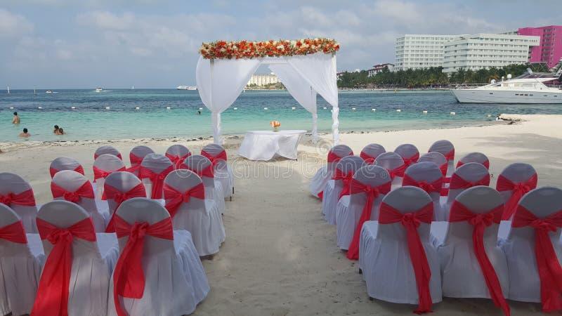 Nozze Cancun fotografia stock libera da diritti