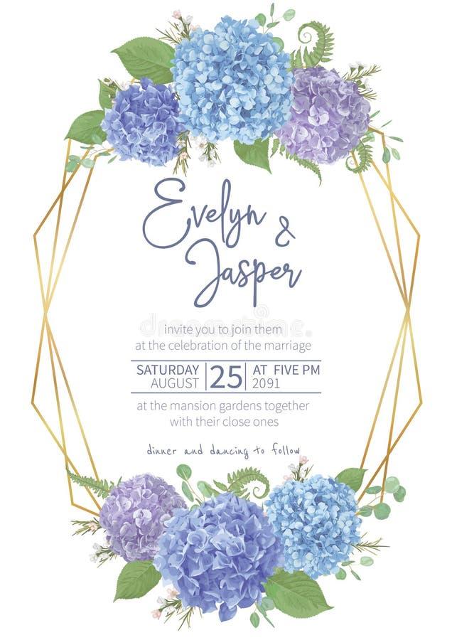 Nozze, carta del fiore dell'acquerello Foglie, eucalyptus di fioritura dei rami, pernettya, salal, chamaelaucium, felce stagional royalty illustrazione gratis