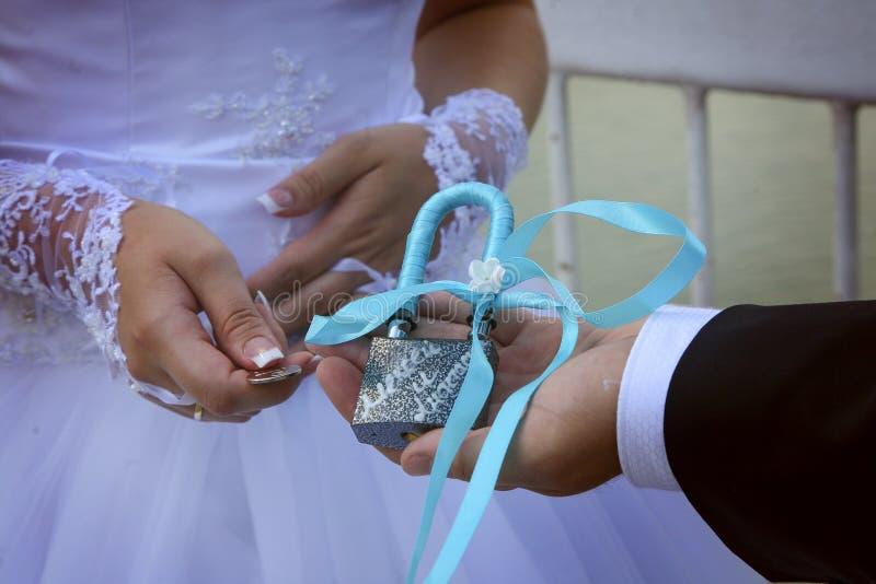 nozze del lucchetto fotografia stock
