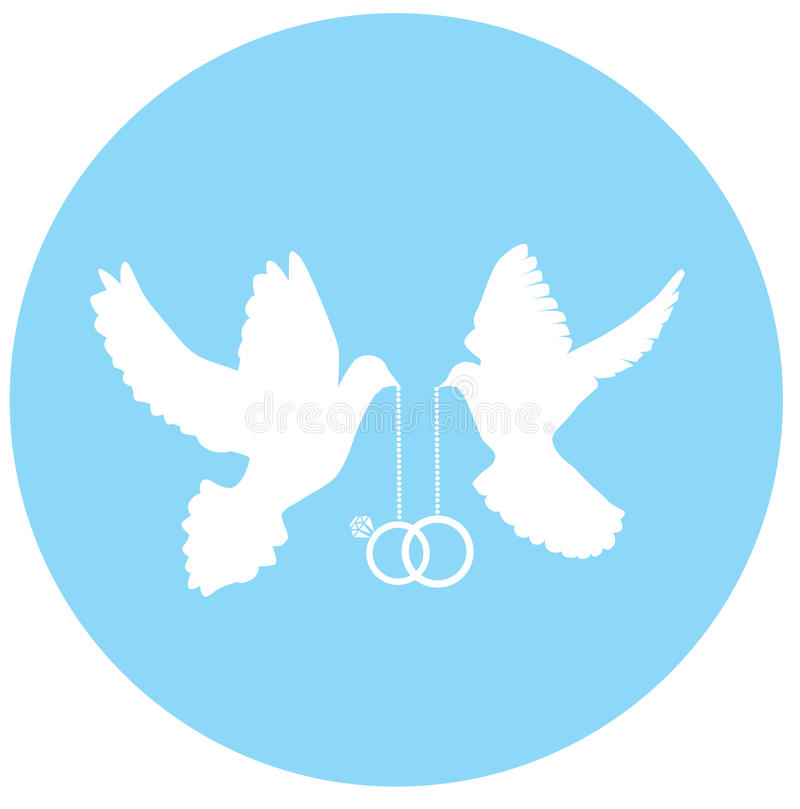 Nozze della colomba di vettore illustrazione vettoriale