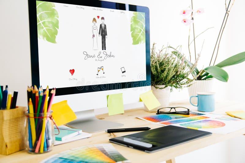 Nozze dello studio di progettazione grafica immagini stock libere da diritti