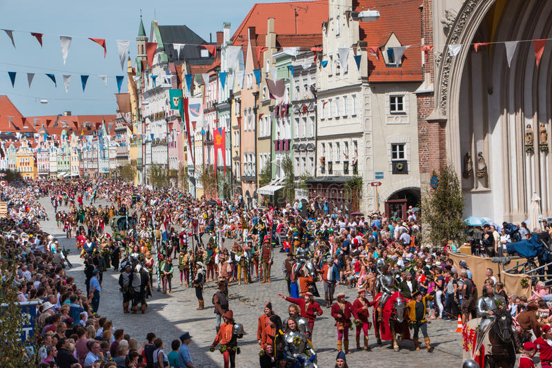 Nozze di Landshut fotografia stock libera da diritti