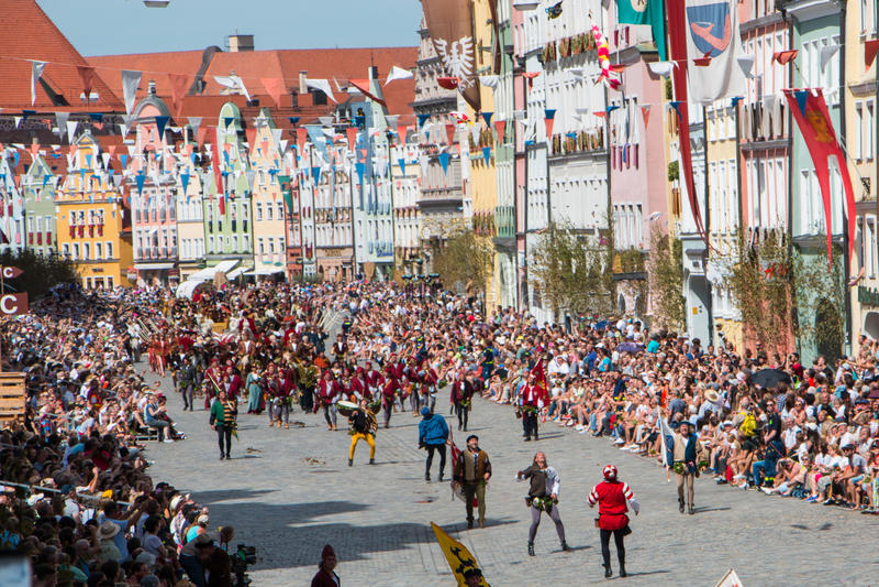Nozze di Landshut fotografie stock