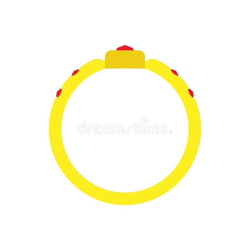 Nozze di simbolo di progettazione di impegno del segno dell'icona dell'illustrazione dell'oro di vettore del cerchio dell'anello  royalty illustrazione gratis