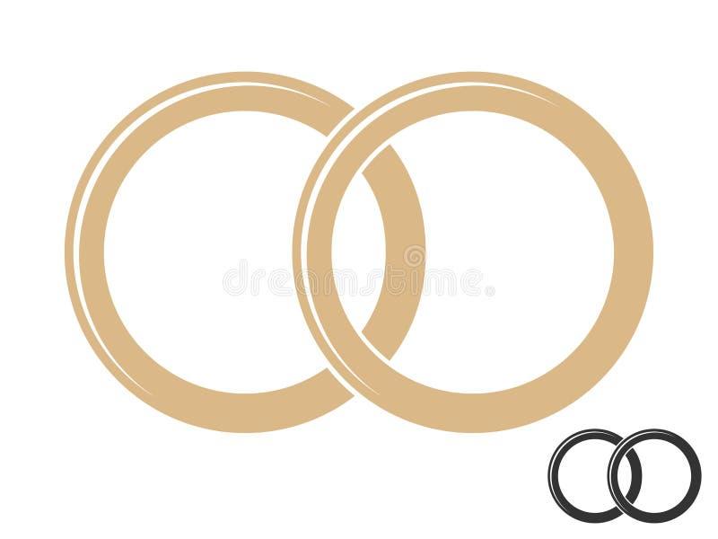 Nozze, impegno, anelli royalty illustrazione gratis