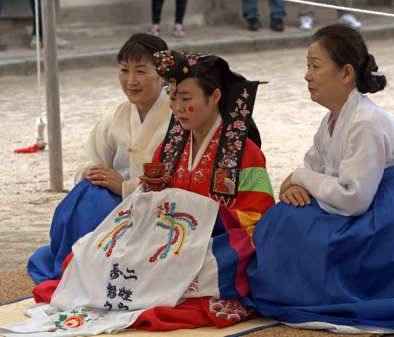 Nozze tradizionali, Suwon, Repubblica coreana immagine stock libera da diritti