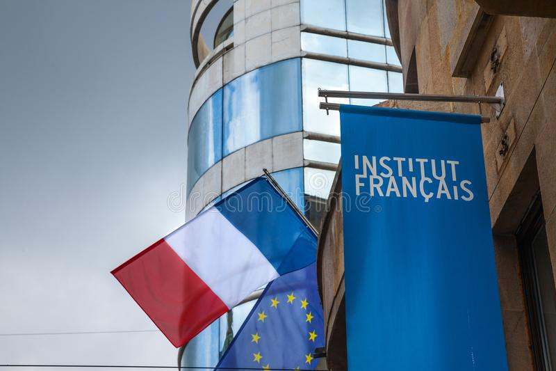 Logo of the French Institute royalty free stock images