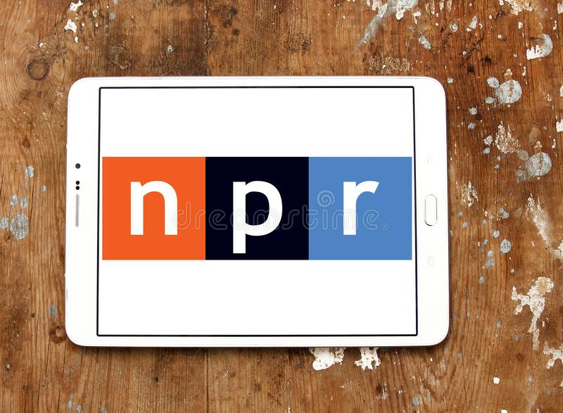NPR, radio nationale de service publique, logo photo stock