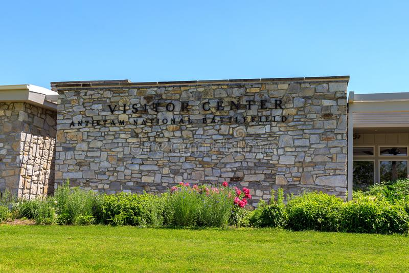 NPS gościa centrum przy Antietam obywatela polem bitwy obraz royalty free