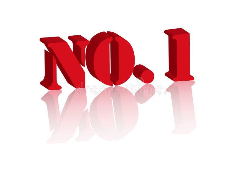 Nr. 1 auf weißem Hintergrund stockbild