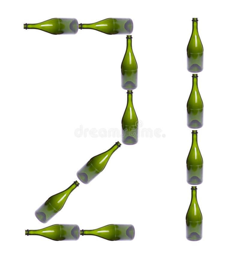 Download Nr. 21 stockfoto. Bild von zahl, flasche, vertikal, auslegung - 12200912