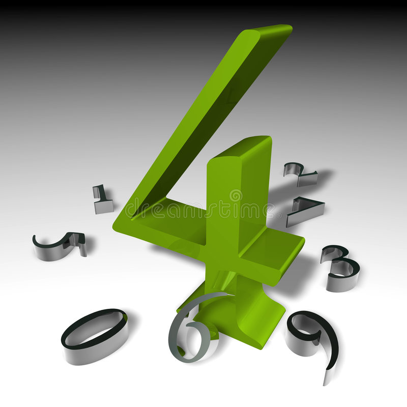 Nr. 4 vektor abbildung