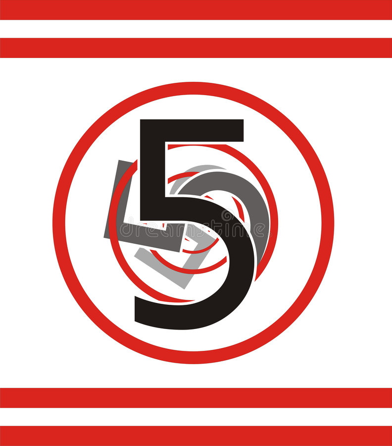 Nr. 5 stock abbildung