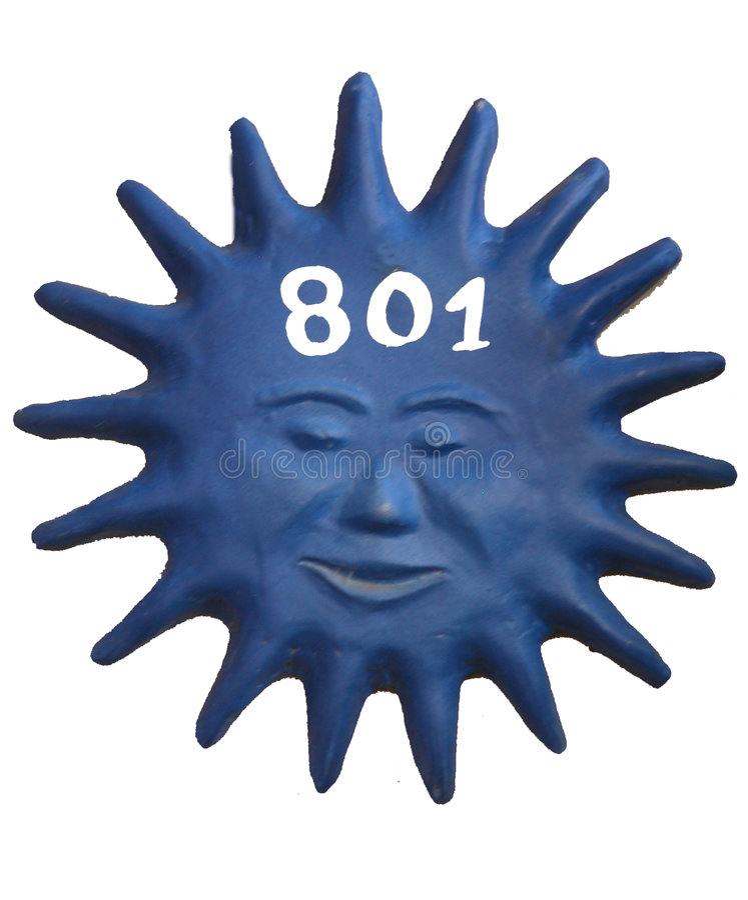 Nr. 801 stock abbildung