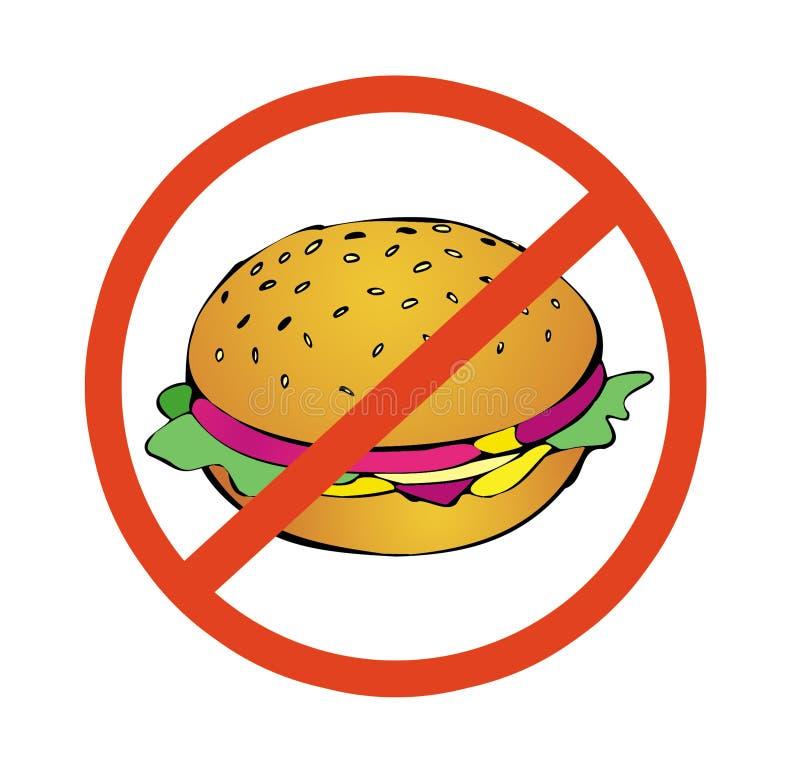Nr aan hoog calorievoedsel royalty-vrije illustratie