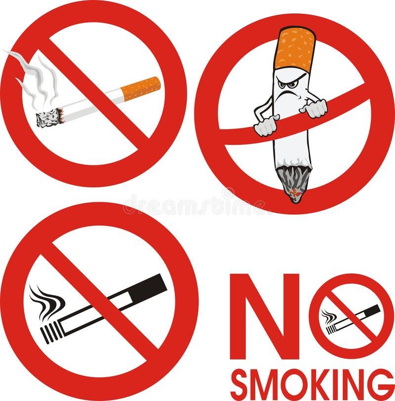 Nr dat - rookt - teken stock illustratie
