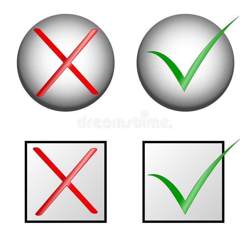 nr. för kontrollfläckar ja royaltyfri illustrationer