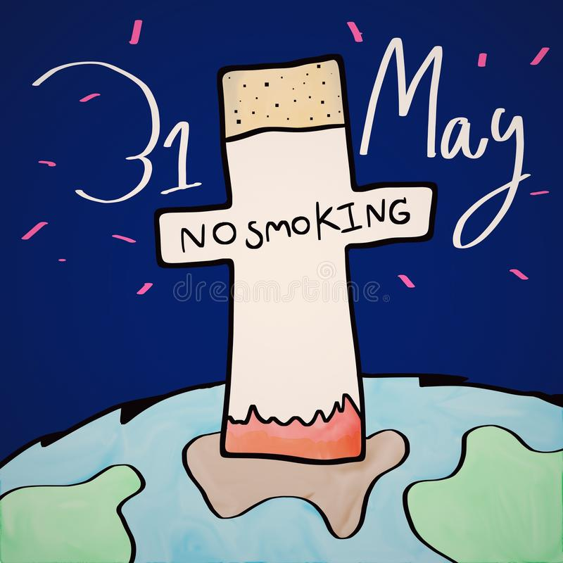 Download Nr - het roken dag stock afbeelding. Afbeelding bestaande uit einde - 54082849
