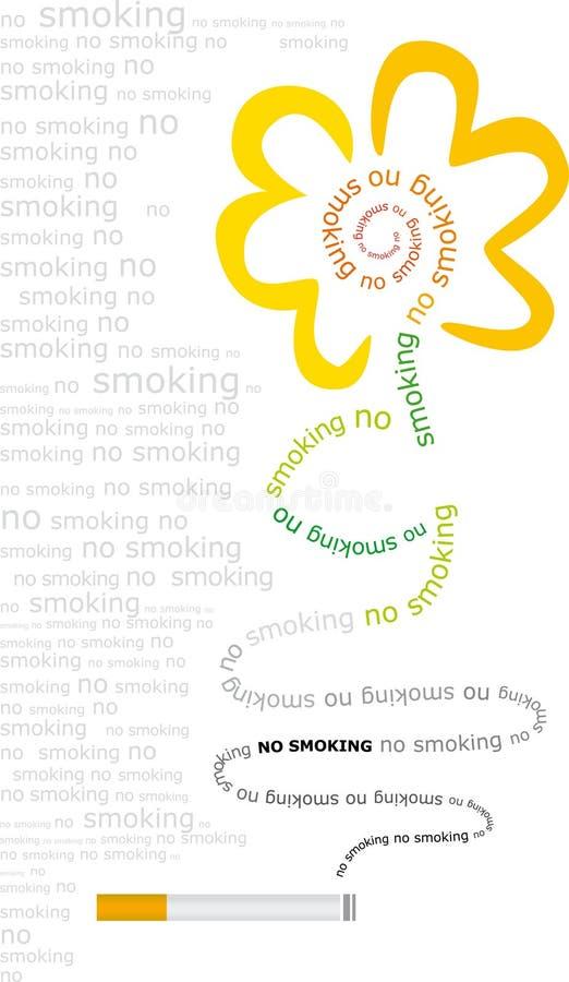 nr. - rökande vektor royaltyfri illustrationer