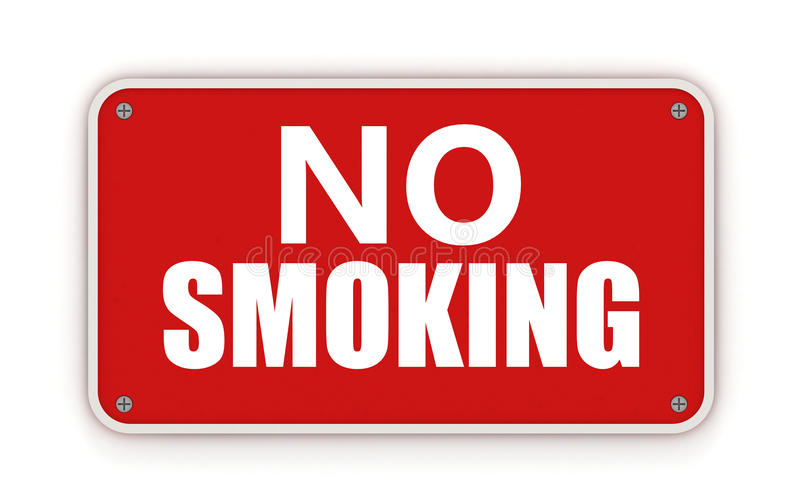 Nr - rokend teken royalty-vrije illustratie