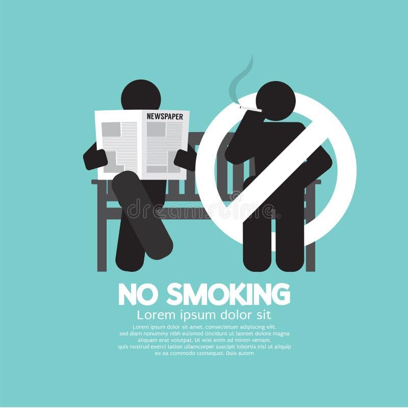 Nr - rokend Teken bij Openbare ruimte stock illustratie