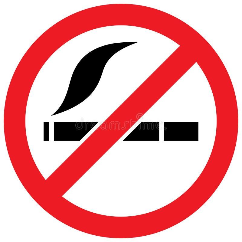 Nr - rokend teken - illustratie royalty-vrije illustratie
