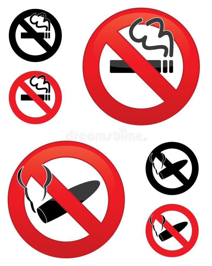 Nr - rokende pictogrammen vector illustratie