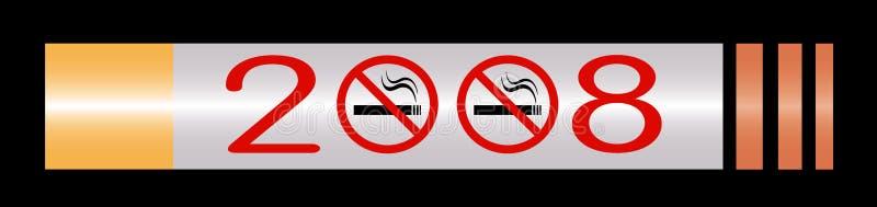 Nr - rokende teken 2008 kalender vector illustratie
