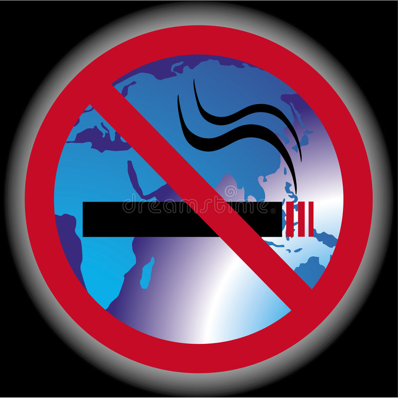 Nr - rokende wereld stock illustratie