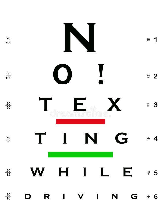 Nr.! Texting, medan köra ögondiagrammet vektor illustrationer