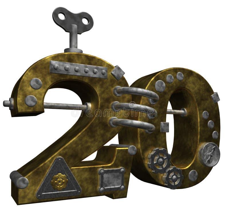 Download Nr. Zwanzig stock abbildung. Illustration von retro, symbol - 26357990
