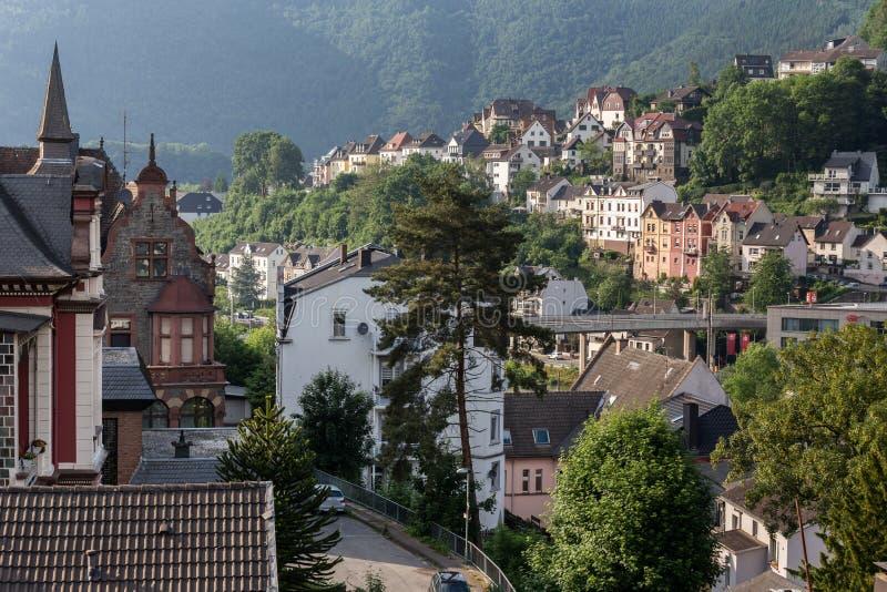 Nrw Germania della città di Altena immagini stock