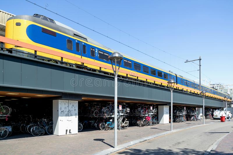 NS Intercity Materieel at Leiden Centraal royalty free stock photo