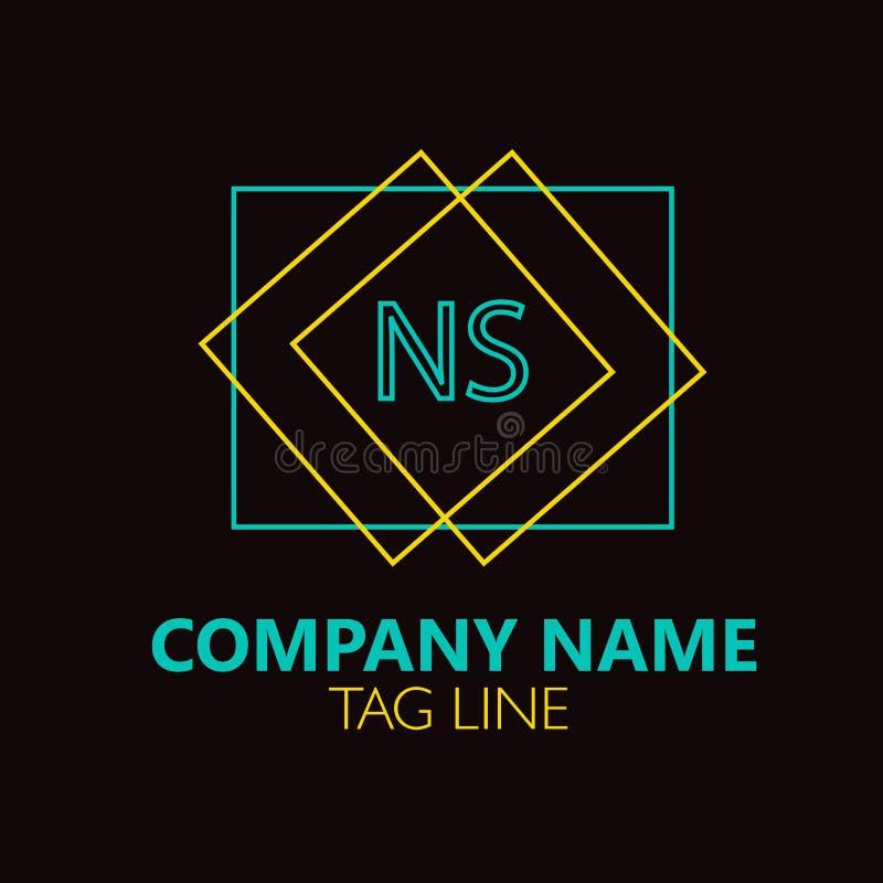 NS Letter Logo Design. stock vector. Illustration of isolated ...