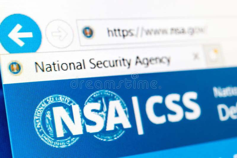NSA-Website stock foto