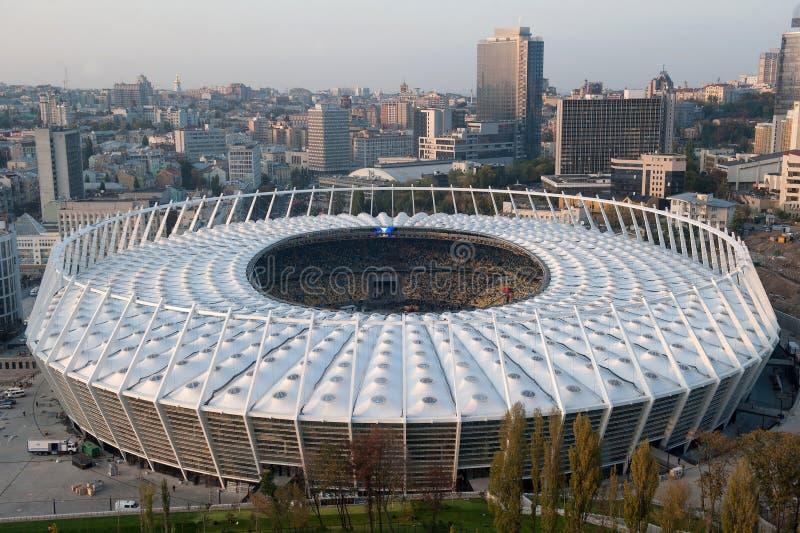 NSC Olimpiyskiy football stadium - Kiev royalty free stock photography